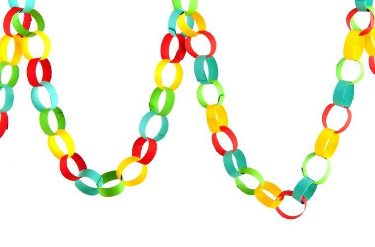 Make your own Christmas paper chains - Feel Christmassy